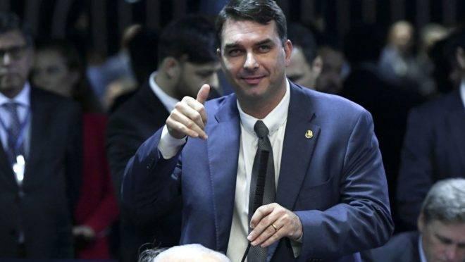 O senador Flavio Bolsonaro (PSL-RJ).
