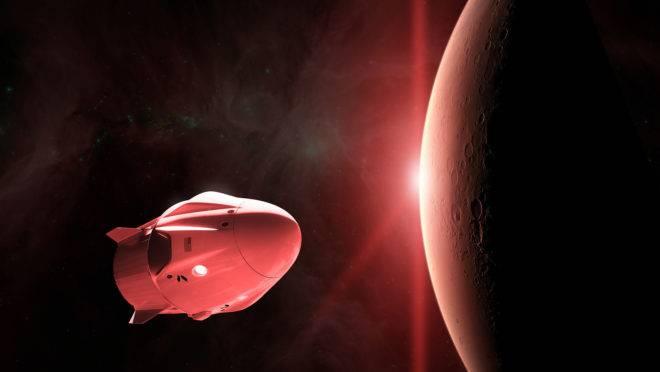 A SpaceX já está mapeando locais em Marte onde seja possível pousar e desembarcar a tripulação.