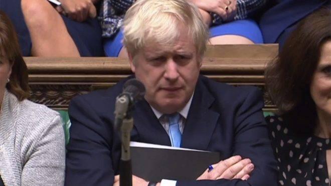 O primeiro-ministro do Reino Unido, Boris Johnson, no Parlamento britânico, Londres, 9 de setembro de 2019