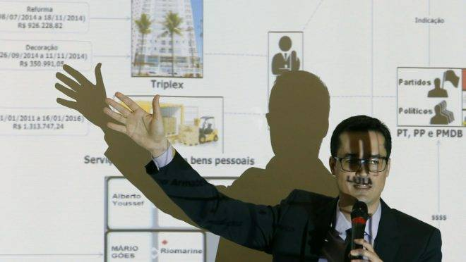 """MPF disse durante apresentação de denúncia em 2016 que Lula foi o """"comandante máximo"""" do esquema de corrupção na Petrobras."""