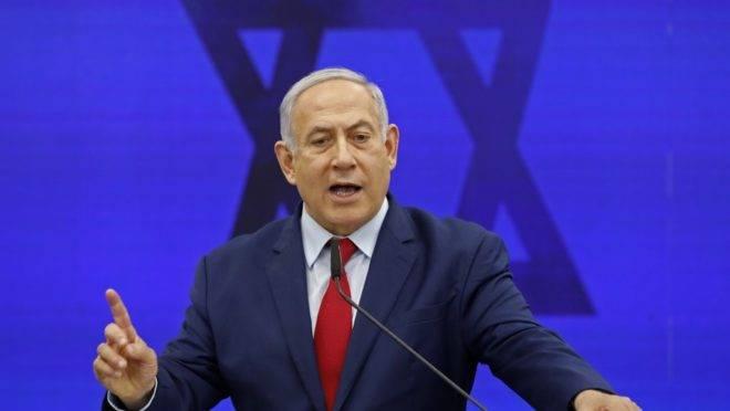 O primeiro-ministro de Israel, Benjamin Netanyahu, em Ramat Gan, 10 de setembro de 2019
