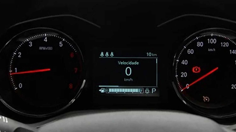 Mostradores analógicos, com uma tela digital para o computador de bordo e também o velocímetro. Foto: Chevrolet/ Divulgação