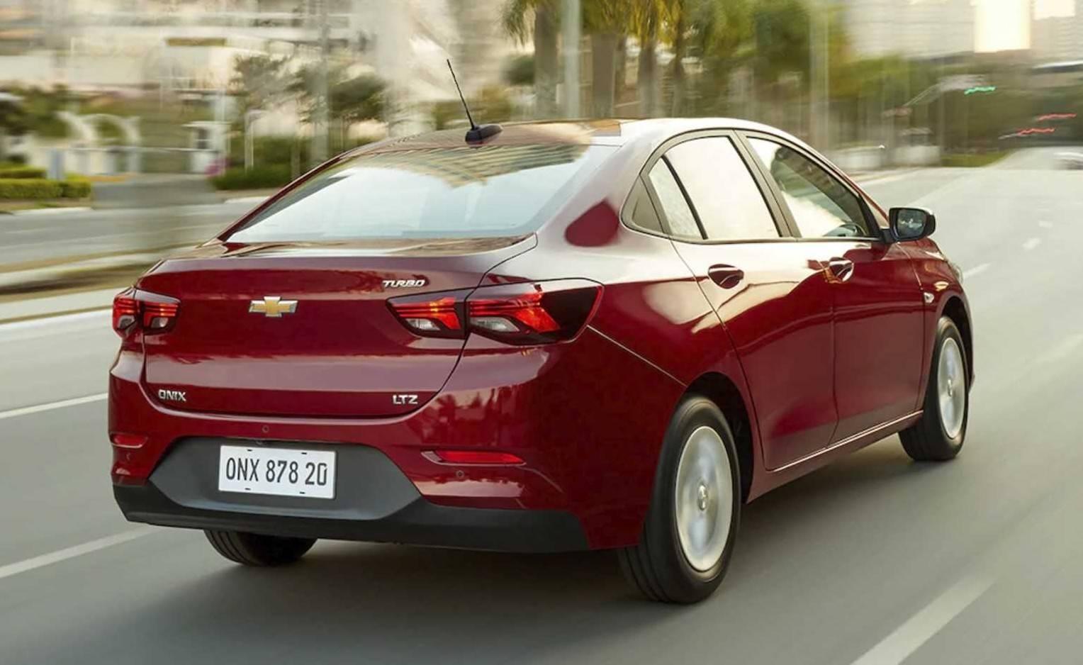 Nova geração do Onix sedã. Foto: Chevrolet/ Divulgação