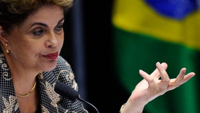 A presidente afastada Dilma Rousseff durante a sessão do Senado que votou sua cassação.