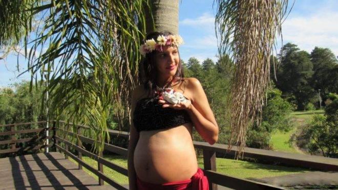 Lislaine Gonçalves Newmann, de 22 anos, diz que irá guardar a foto para mostrar ao seu filho quando for maior.