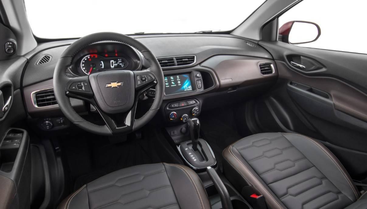 Interior do Prisma (primeira geração). Foto: Chevrolet/ Divulgação