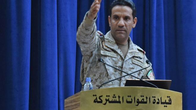 O porta-voz da coalizão militar liderada pela Arábia Saudita, Coronel Turki al-Maliki