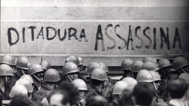 Manifestação no Rio de Janeiro, em 1968