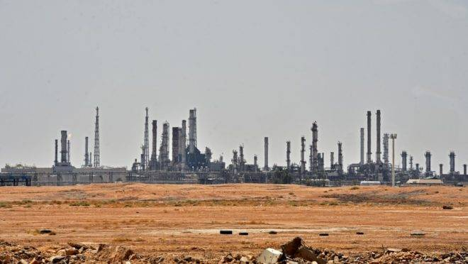 Unidade de petróleo da Aramco na região de al-Khurj, ao sul de Riade, capital da Arábia Saudita