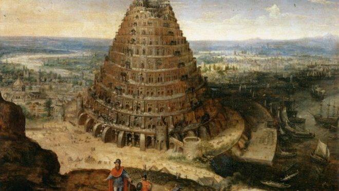 "Lucas van Valckenborch, ""The tower of Babel"" (1568)."