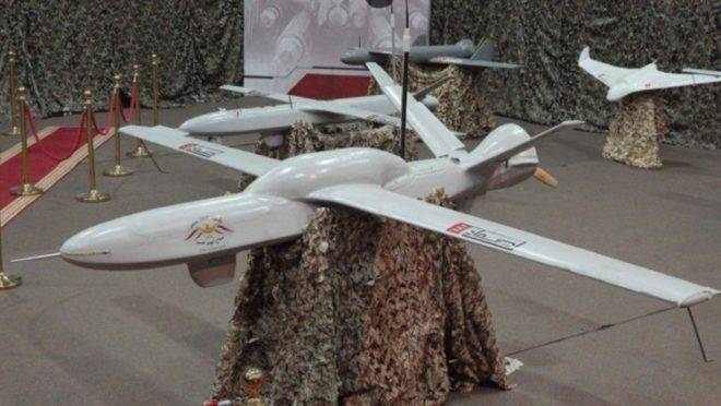 Drone de longo alcance dos houthis, o Sammad-3
