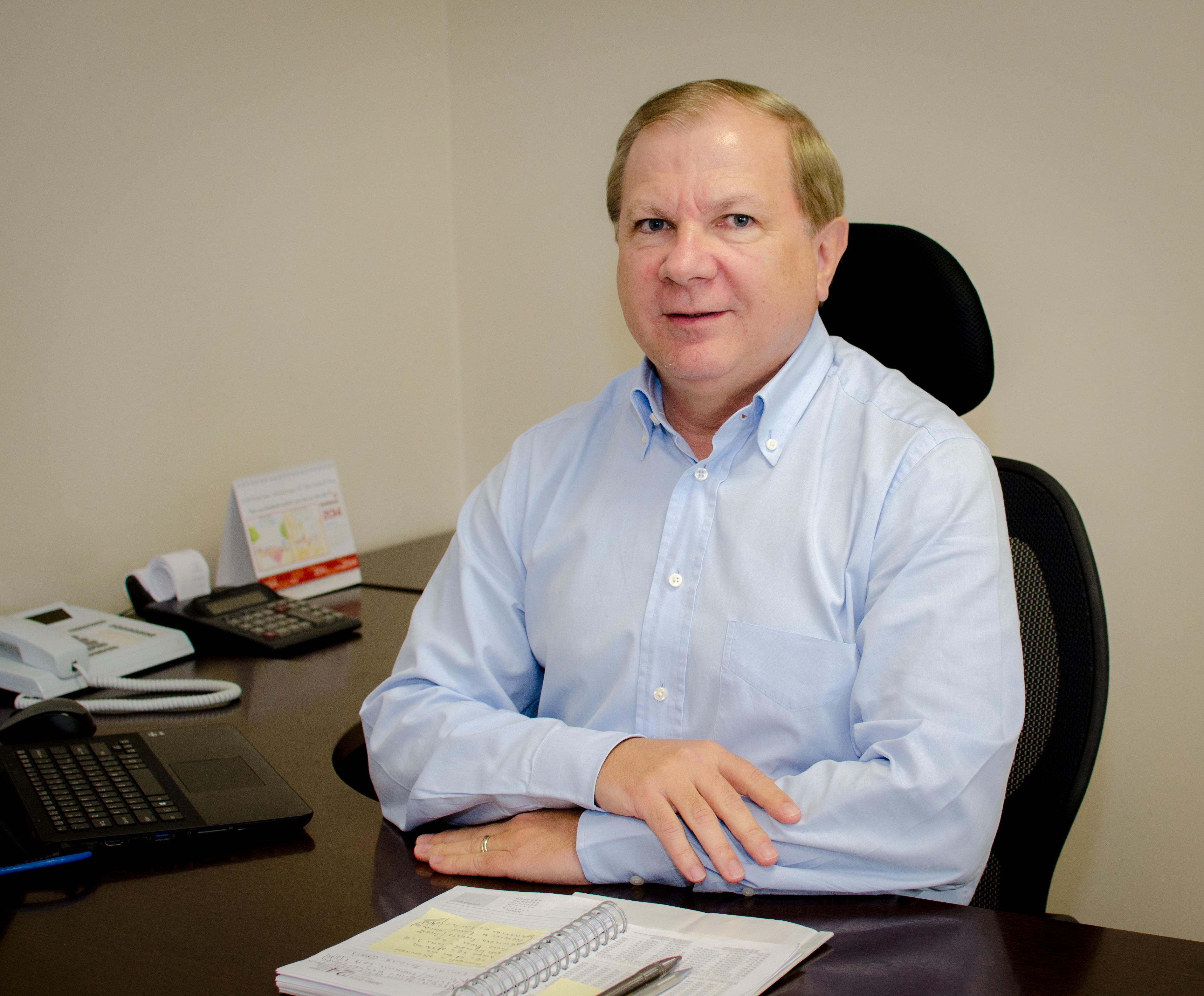 O empresário Carlos Humberto de Souza é o diretor-presidente da Risotolândia. Souza está na empresa há 35 anos. Foto: divulgação.