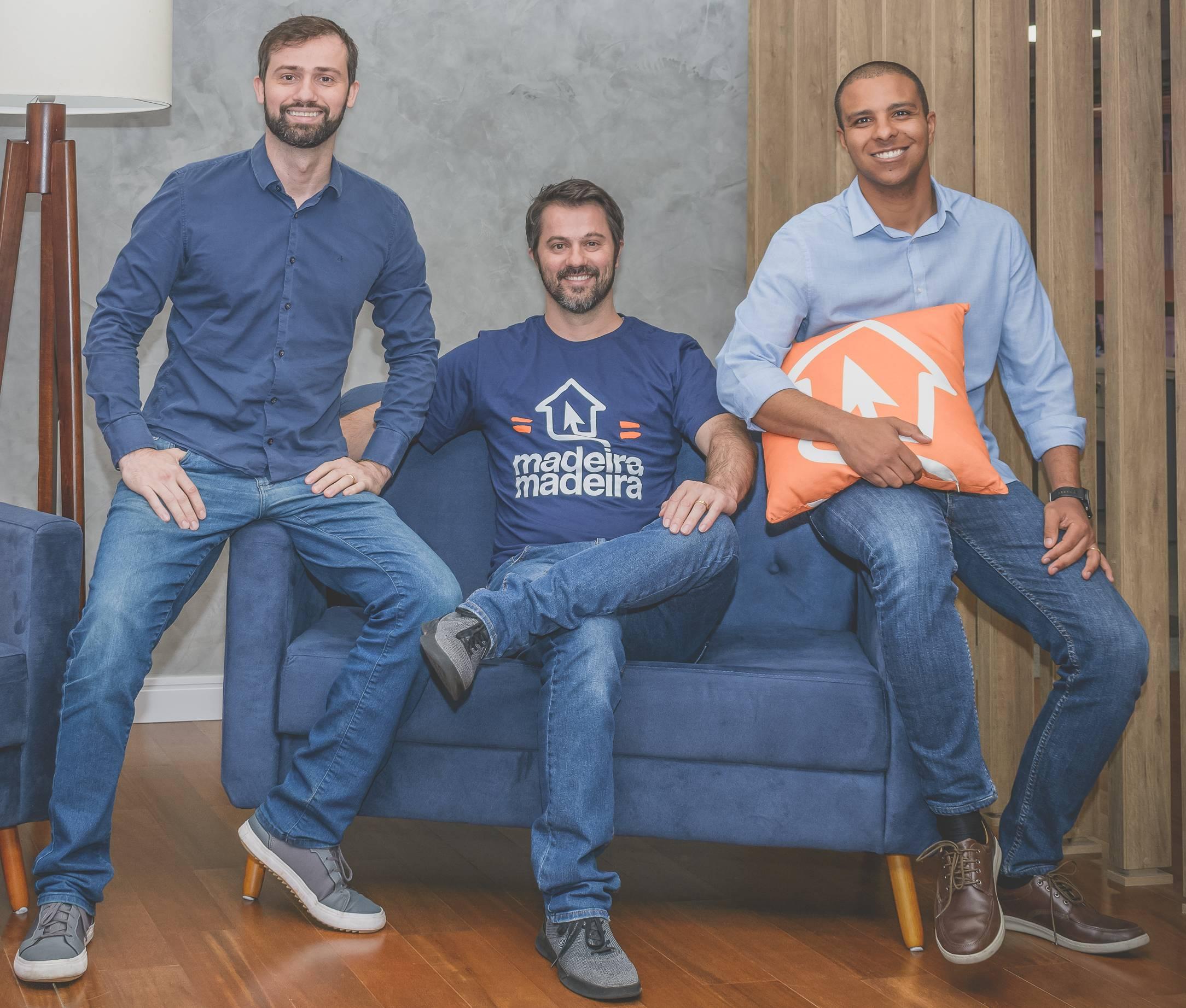 Na foto, Marcelo e Daniel Scandian e Robson Privado. Foto: divulgação/MadeiraMadeira