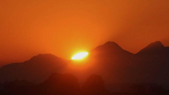 Sol forte em Curitiba