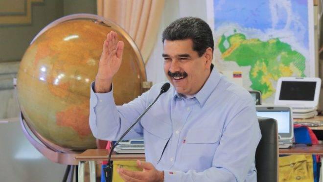 O ditador da Venezuela, Nicolás Maduro, no Palácio de Miraflores, em Caracas, 16 de setembro de 2019