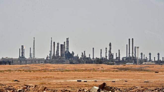 Instalação de petróleo de Aramco, ao sul da capital saudita Riad