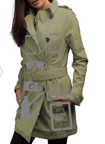 A ScotteVest tem casacos femininos com compartimentos específicos para itens essenciais. Foto: ScotteVest/Reprodução