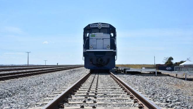 Trecho de ferrovia concedida à iniciativa privada em Anápolis (GO)