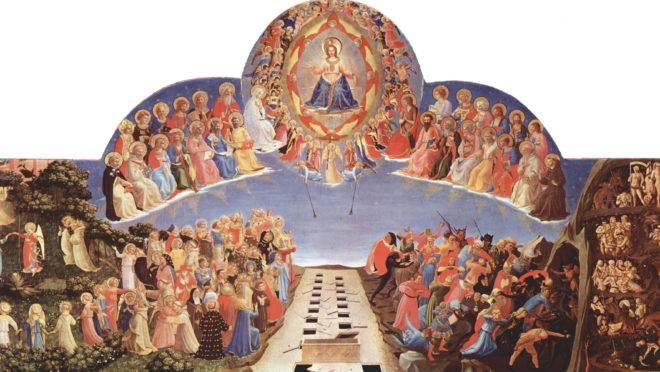 O julgamento final, por Fra Angelico.