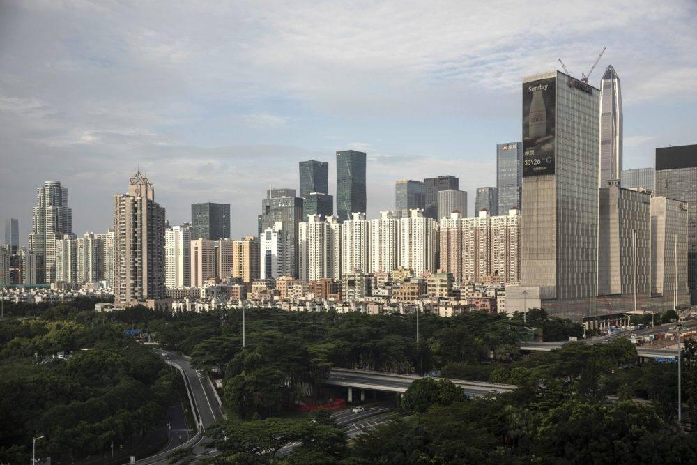 Vista do centro de Shenzhen. Foto: Qilai Shen/Bloomberg