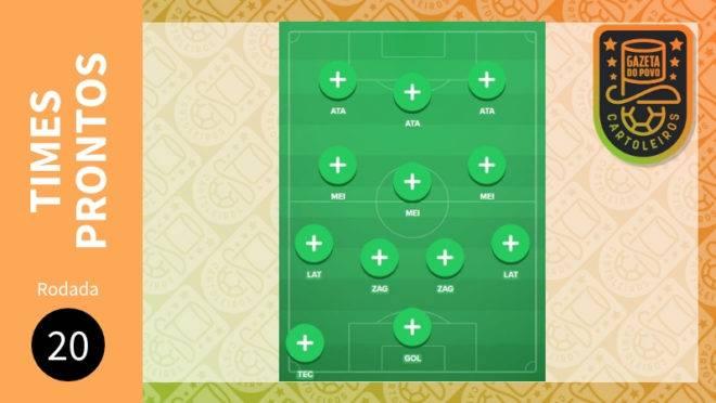 Cartola FC 2019 – 20ª rodada: sugestão de times para pontuar e valorizar