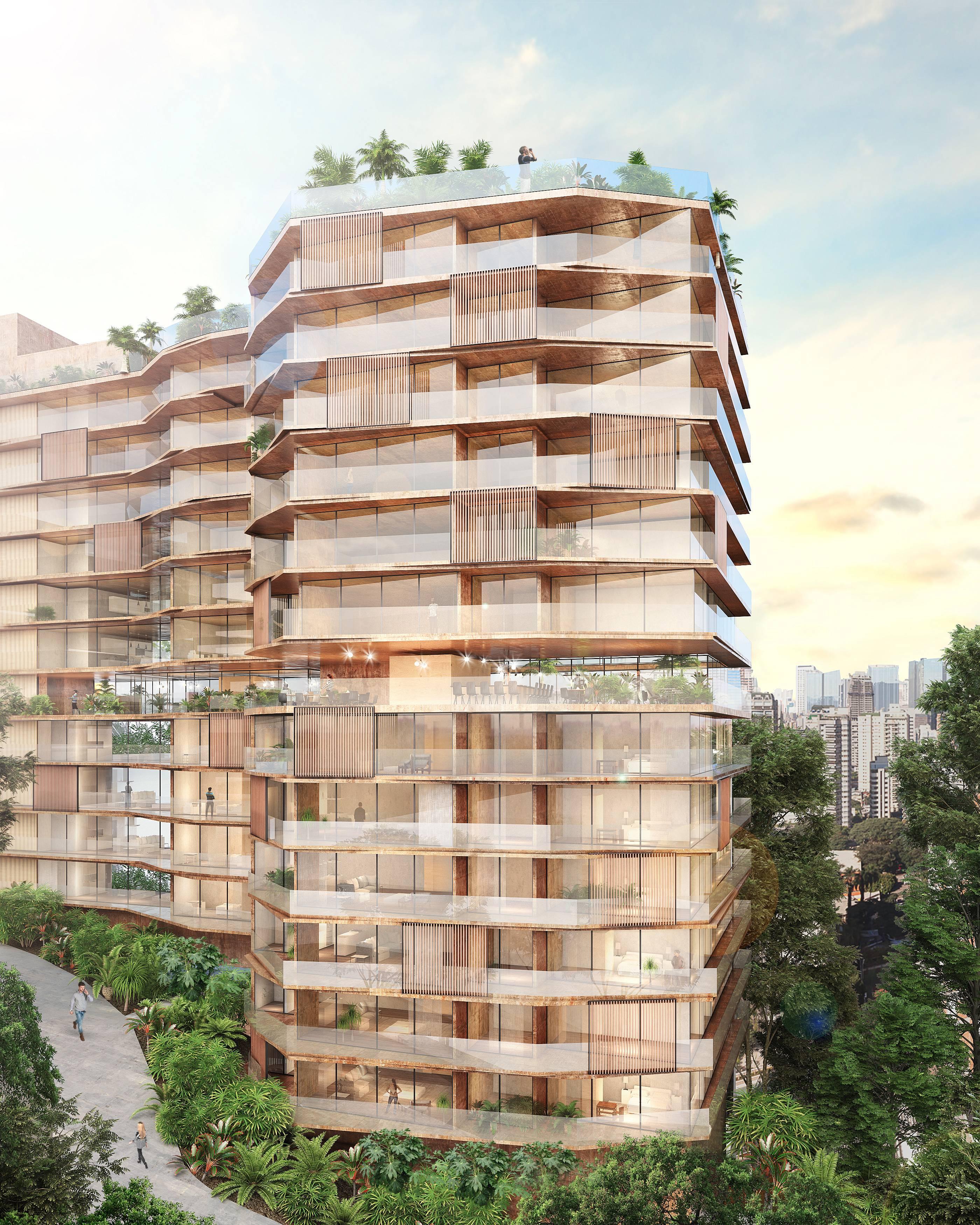 O Fasano Cidade Jardim tem projeto arquitetônico e arquitetura de interiores desenvolvidos pela Triptyque. (crédito: divulgação).
