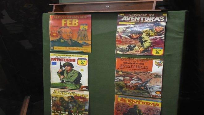 Quadrinhos raras mostram a presença da FEB na 2ª Guerra.
