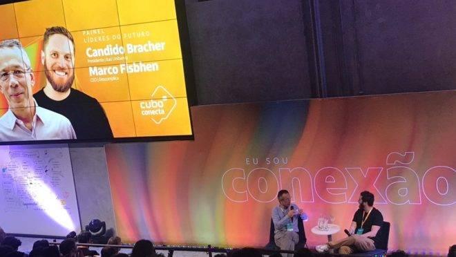 Candido Bracher, presidente do Itaú Unibanco e Marco Fisbhen, CEO da Descomplica