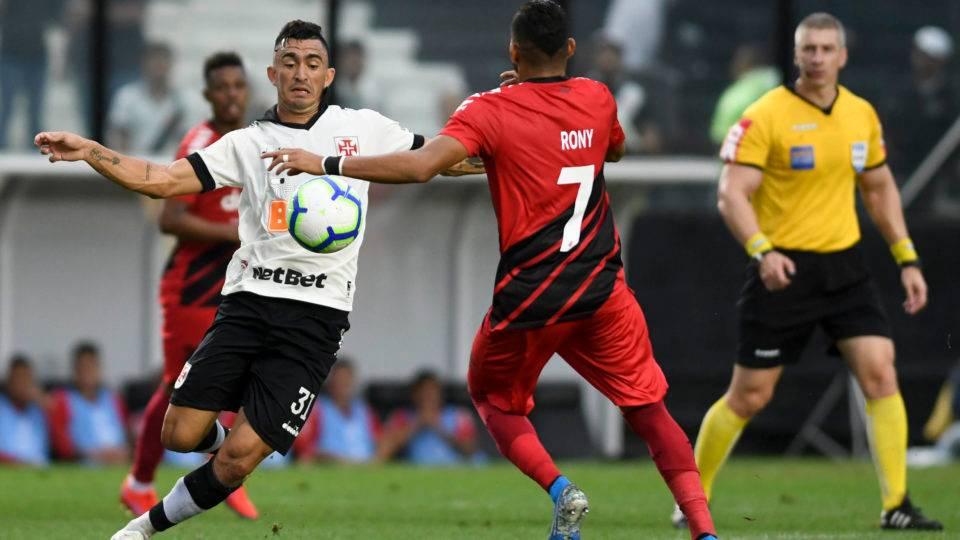 Rony e Santos se destacam no Athletico x Vasco; veja as notas dos jogadores