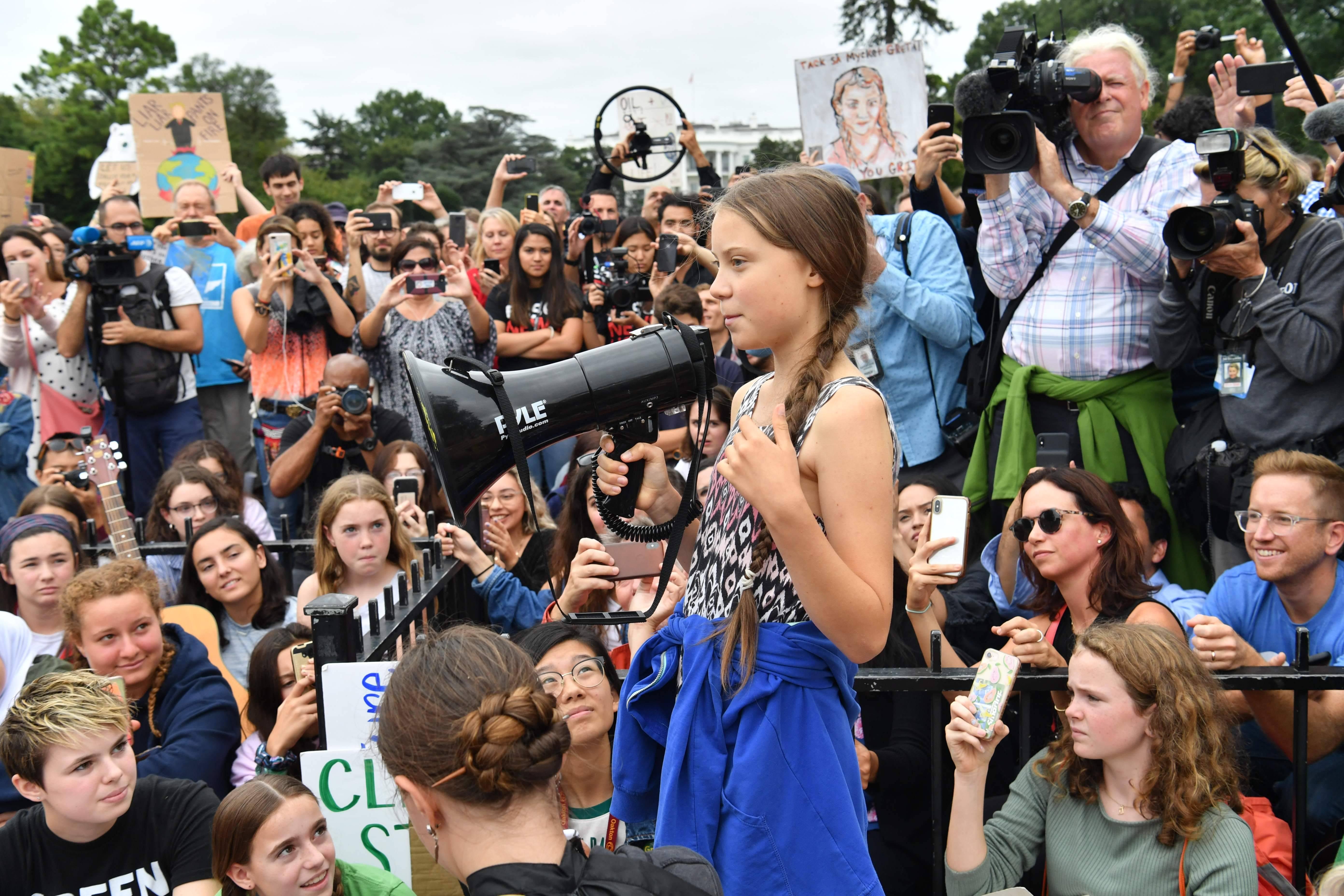 A menina Greta Thunberg ganhou destaque em todo o mundo desde quando iniciou um movimento de greve nas escolas em defesa do meio ambiente. Foto: Nicholas Kamm