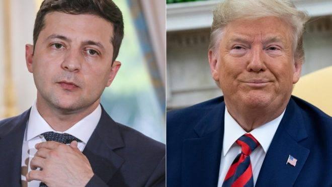 Presidente da Ucrânia, Volodymyr Zelensky, e presidente dos EUA, Donald Trump