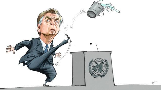 Resultado de imagem para discurso de bolsonaro charges