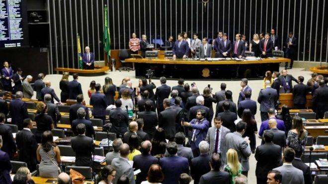 Sessão do Congresso Nacional em que foram apreciados os vetos à lei de abuso de autoridade, no dia 25/09/2019