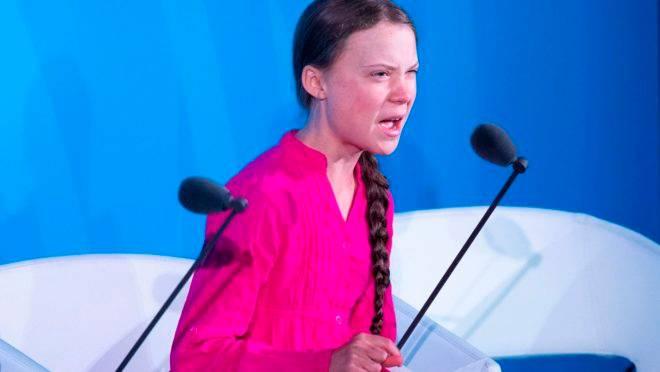 Greta Thunberg fala durante a Cúpula de Ação Climática nas Nações Unidas, em 23 de setembro de 2019.