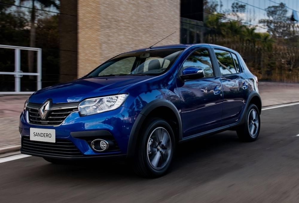 A versão do Sandero da foto é a 1.6 CVT. Foto: Renault/ Divulgação