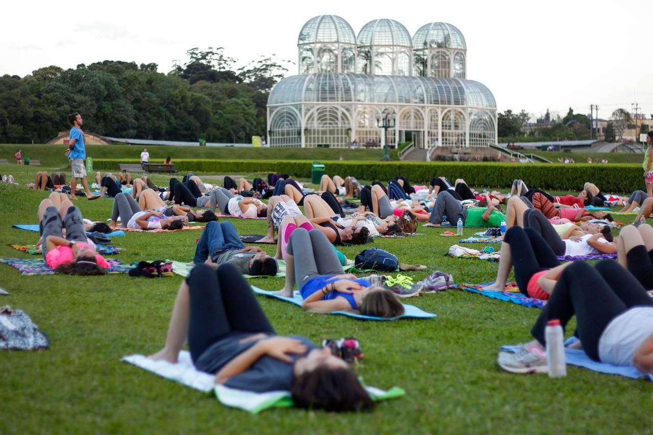 A meditação coletiva é realizada sempre no último domingo do mês. Foto: Daniel Castellano
