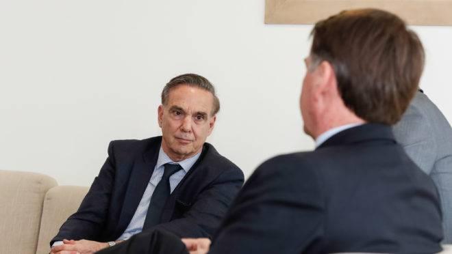 Bolsonaro com Miguel Ángel Pichetto
