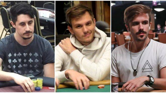 Jonathan, Alisson e Yuri. Fotos:  WSOP e KSOP