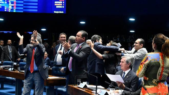 Plenário do Senado na votação da reforma da Previdência
