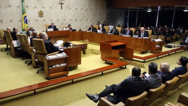 Sessão do STF que começou a julgar o caso que pode anular sentenças da Lava Jato.