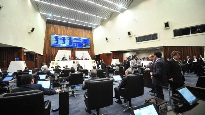 Sessão na Assembleia Legislativa do Paraná.