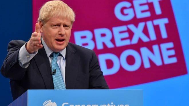 O primeiro-ministro do Reino Unido, Boris Johnson, discursa na conferência anual do Partido Conservador, em Manchester, 2 de outubro de 2019
