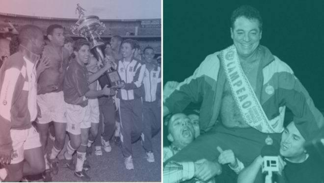 Paraná tetracampeão estadual sobre o Coritiba em 1996 e Coxa campeão estadual sobre o Tricolor em 1999