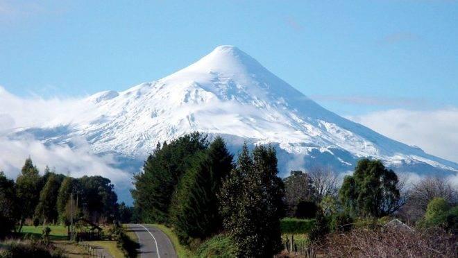 Vulcão Osorno, no Parque Nacional Vicente Perez Rosales, no Chile.