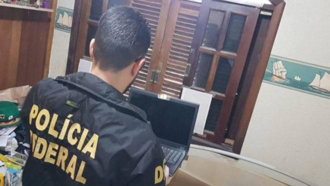Polícia Federal chegou ao suspeito a partir de investigações de cooperação internacional.
