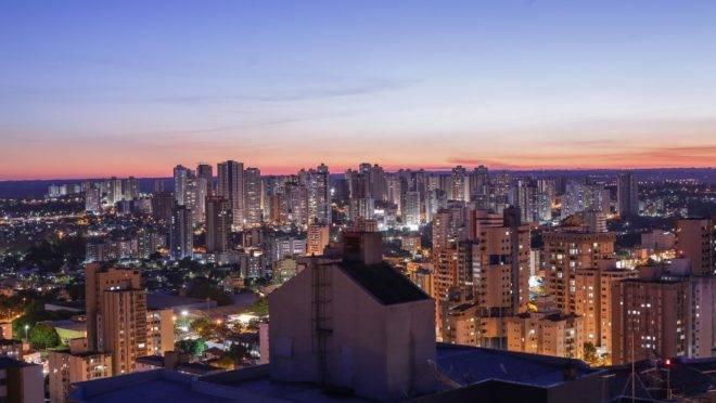 Vista geral da cidade de Londrina, no norte do estado. Na foto, prédios do centro da cidade