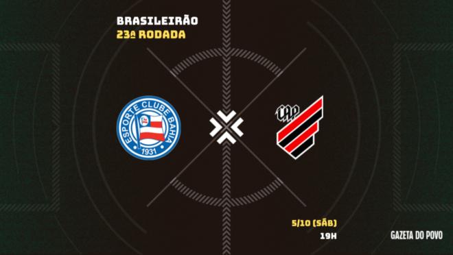 Bahia x Athletico: informações, escalações e arbitragem