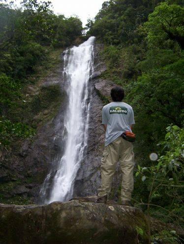 Uma das quedas do Salto dos Macacos. Foto; Calango Expedições/divulgação.