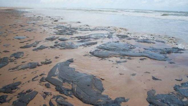 Bolsonaro determinou apuração conjunta de órgãos do governo sobre manchas de óleo.