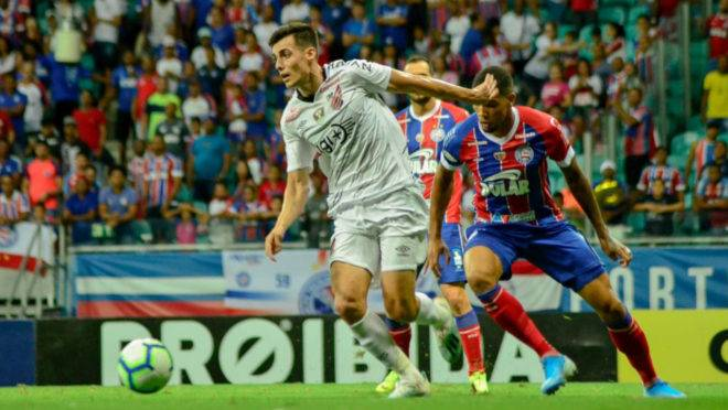 Léo Cittadini marcou o segundo gol da vitória do Athletico sobre o Bahia em Salvador.